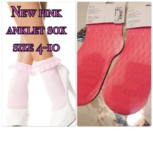 jcpenney Accessories - New lace pink anklet sox.  Set of two pairs.
