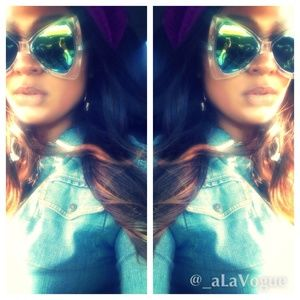 NWT Sunglasses - rainbow mirror lenses
