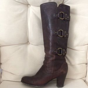 Frye tall brown leather boot