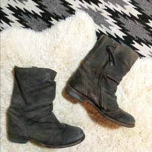 All Saints Leather Slouch Boots