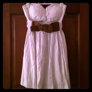 Delia's White Dress with Belt