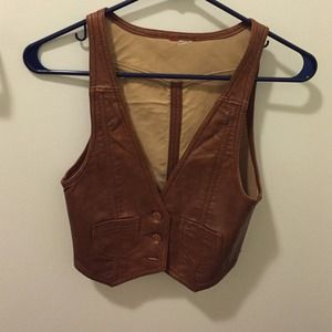 "H&M ""leather"" vest"