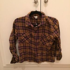 Forever 21 Cut Out Back Flannel