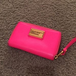 Marc Jacobs Pink Phone Wallet
