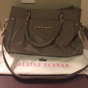 Elaine Turner tote with strap