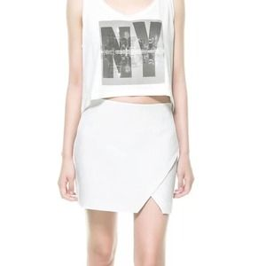 Host Pick Zara white skirt