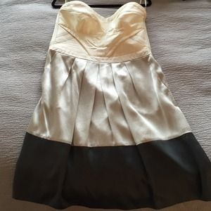 REISS size 10 strapless silk dress