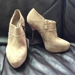 ZARA suede beige ankle boot