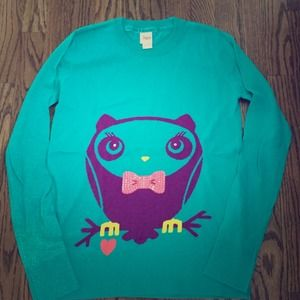 Circo Other - Owl graphic sweater. Size youth XL. Women's small