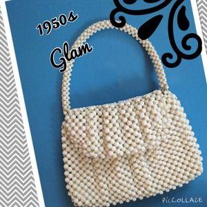 Vintage 1950s Beaded Purse or Handbag