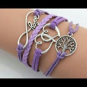 Jewelry - 2 for 15! NWT Purple Friendship Bracelet