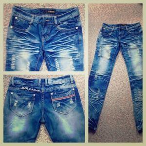 HAMFC Korea Design Distressed Jeans