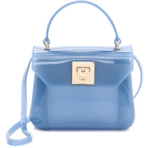 FURLA candy bonbon mini cross body bag blue NWT 772162811c634