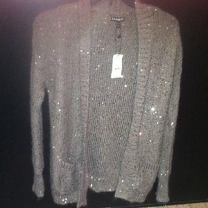 Tan sparkly cardigan