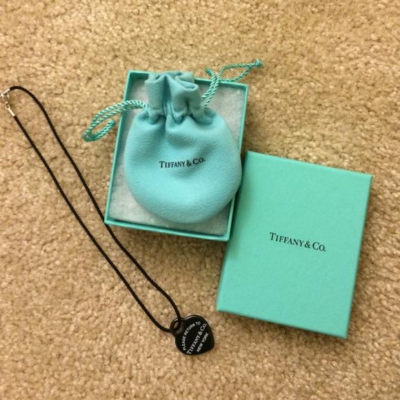 6aa9d21da Tiffany & Co. Jewelry | Return To Tiffany Black Bone Heart With ...