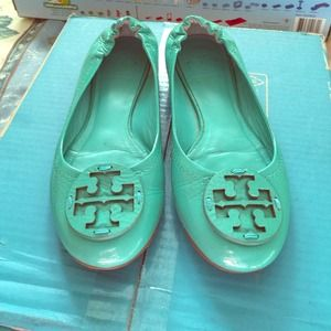 Tory Burch Reva Patent Leather Flat
