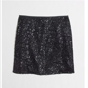 J. Crew Dresses & Skirts - J.Crew Black Sequin Mini Skirt
