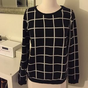 Old Navy Sweaters Black And White Checkered Sweater Poshmark