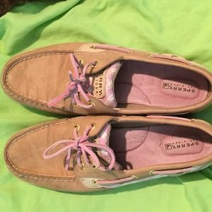 Pink sequined Top Sider Sperry