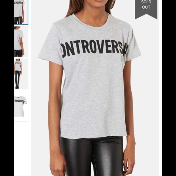 26 off topshop tops topshop controversial t shirt nwt