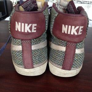 edfc7adfc6c5 Nike Shoes - Harris Tweed Nike hi-tops - in need of fixing up