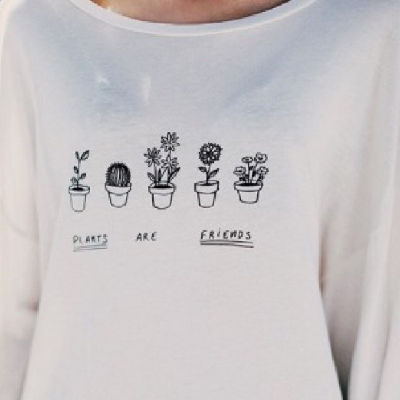 brandy melville plants are friends shirt from bailey 39 s closet on poshmark. Black Bedroom Furniture Sets. Home Design Ideas