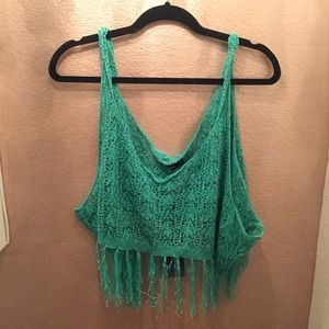 Lulus Crochet Fringe Top *NEW*