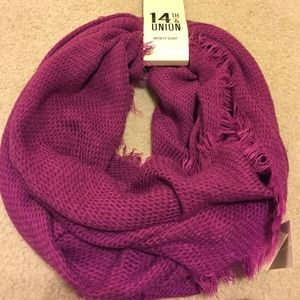14th & Union Accessories - Purple Infinity Scarf