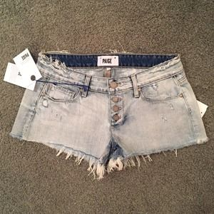Paige Button Front Denim Shorts *NEW*
