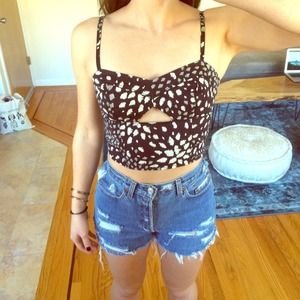 Criss-cross Back Festival Crop Top