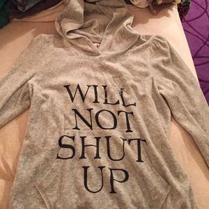 Velour Juicy Couture hoodie 3/4 length sleeve