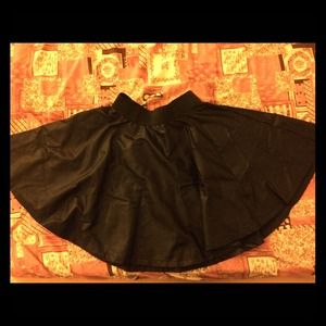 Club L Leather Look Skater Skirt Size US 6