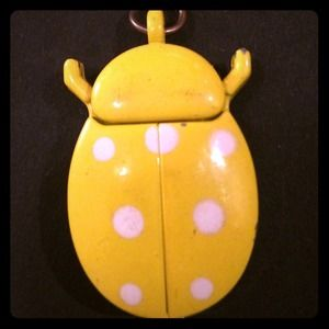 Vintage Ladybug Pendant Watch/Clock
