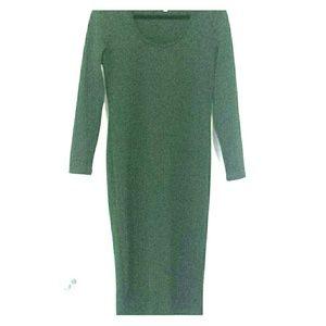 Midi Textured Jersey Dress