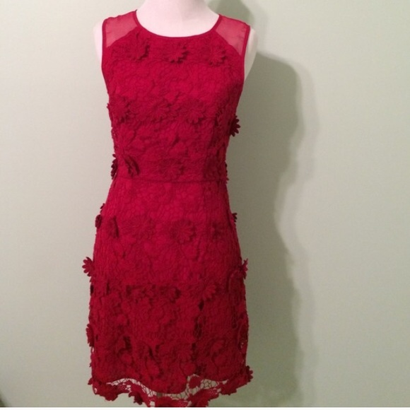 55% off Urban Outfitters Dresses & Skirts - Appliqué Detailed Red ...