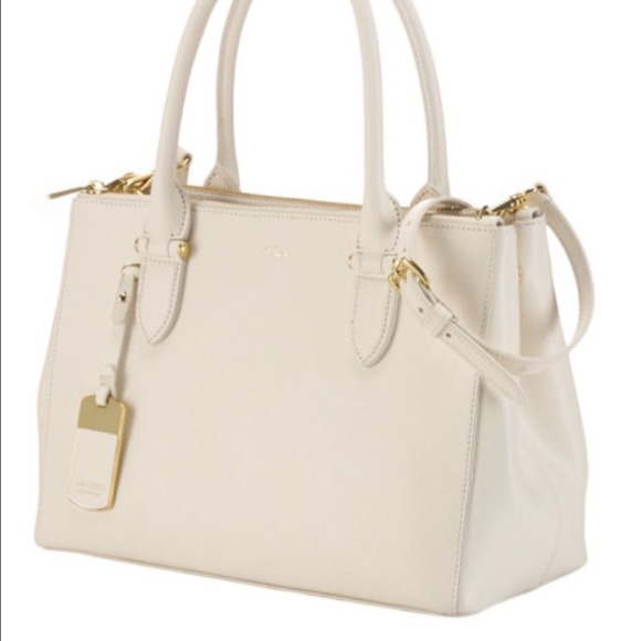 37% off Ralph Lauren Handbags - White double zipper Newbury ...