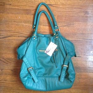 Urban outfitters dark TEAL slouchy bag!