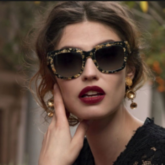 6112df84f6a Dolce   Gabbana Accessories - Dolce   Gabbana gold leaf sunglasses
