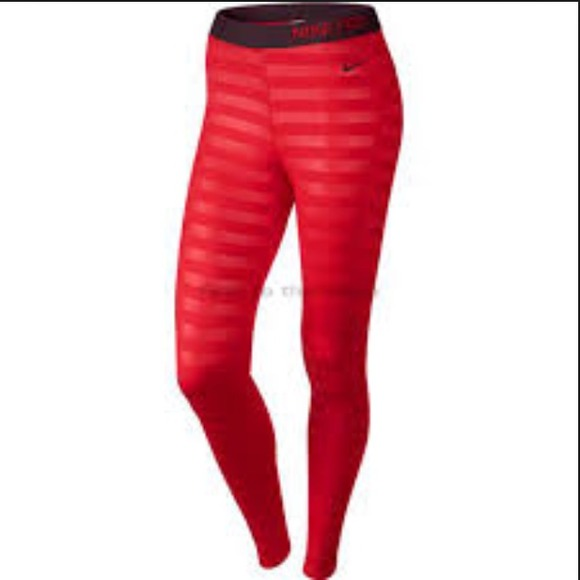 Nike - Nike Pro Hyperwarm Embossed Running Tights from Delicate ...
