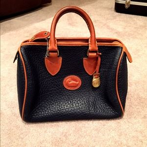 Vintage Dooney and Bourke Navy Handbag