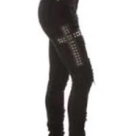 714f847e6a7b2 Tripp NYC High Waisted Studded Cross Skinny Jean 3