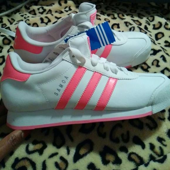 adidas samoa black and pink