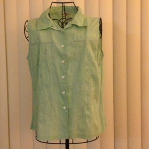 April Cornell Tops - 🌷🌷Pop of color Mint Green Blouse🌷🌷