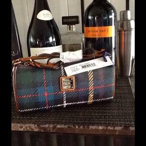 Dooney & Bourke Plaid Large Barrel Shoulder Bag