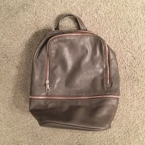 Forever 21 Grey Leather Backpack *NEW*