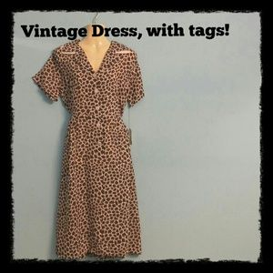 VINTAGE New w tags sheer 50s early 60s dress