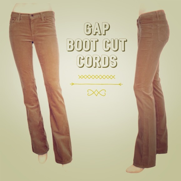 60% off GAP Pants - GAP Camel Low-Rise Sexy Boot Cut Corduroy ...