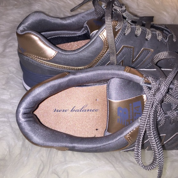 New Balance Shoes New Balance 574 Precious Metals Silver Gold
