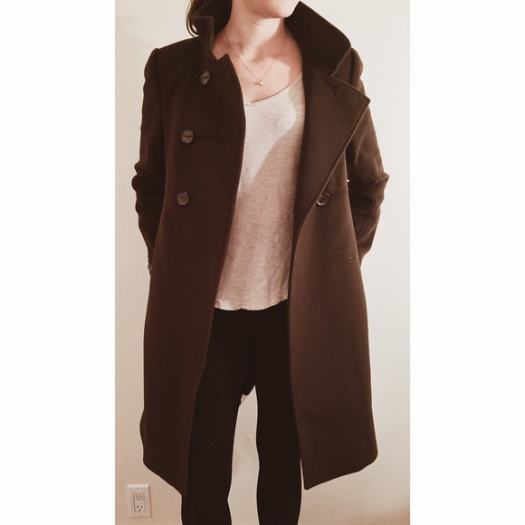 68% off Zara Outerwear - Zara dark brown long coat, XS! from E's ...