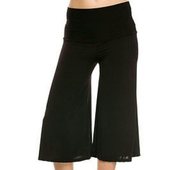 gaucho capri pants plus size - Pi Pants